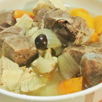 Potage aux boeuf et tofu