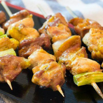 Brochettes de poulet (4 pcs)