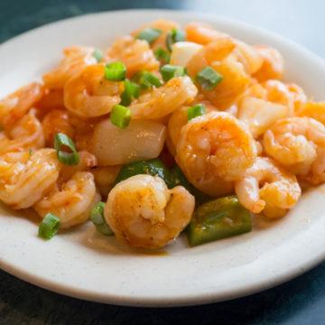 Crevettes à la sauce «Se-Tchuan»